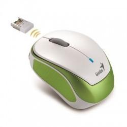Genius Micro Traveler 9000R V2 RF inalámbrico Óptico 1200DPI Verde, Color blanco