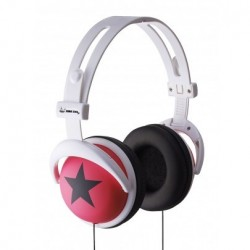 ZONE EVIL Auriculares DJ Star Style Elite Pro Rosa