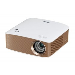 LG PH150G 130lúmenes ANSI LCOS 720p (1280x720) Portable projector Oro, Color blanco videoproyector