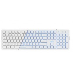 Bluestork KB-LUMI USB QWERTY Español Color blanco