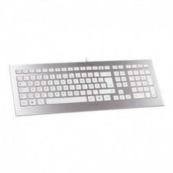Cherry STRAIT teclado Ultra compacto USB plata