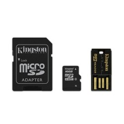 Kingston 16GB MULTI KIT (CLASS 10 MICROSD + SD ADAPTER + USB READER) ANDROID